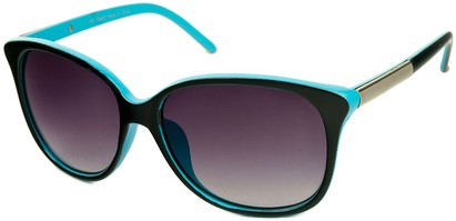 Angle of SW Two-Tone Cat Eye Style #829 in Black/Blue Frame, Women's and Men's
