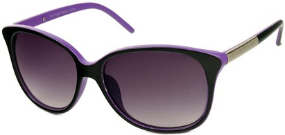 Angle of SW Two-Tone Cat Eye Style #829 in Black/Purple Frame, Women's and Men's