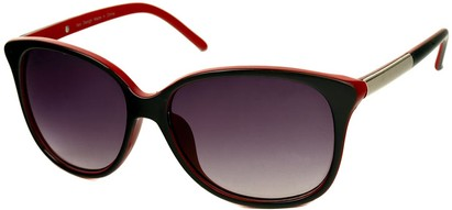 Angle of SW Two-Tone Cat Eye Style #829 in Black/Red Frame, Women's and Men's