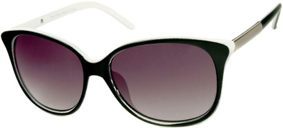Angle of SW Two-Tone Cat Eye Style #829 in Black/White Frame, Women's and Men's