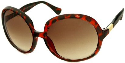 Angle of SW Oversized Round Style #1133 in Tortoise Frame with Amber Lenses, Women's and Men's