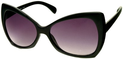 Angle of SW Oversized Retro Style #468 in Black Frame, Women's and Men's