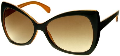 Angle of SW Oversized Retro Style #468 in Brown/Orange Two Tone Frame, Women's and Men's