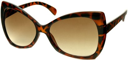 Angle of SW Oversized Retro Style #468 in Brown Tortoise Frame, Women's and Men's