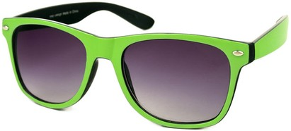 Angle of SW Bright Retro Style #809 in Lime Green/Black Frame, Women's and Men's