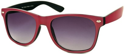 Angle of SW Bright Retro Style #809 in Dark Pink/Black Frame, Women's and Men's