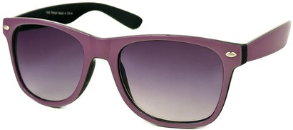 Angle of SW Bright Retro Style #809 in Purple/Black Frame, Women's and Men's