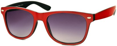 Angle of SW Bright Retro Style #809 in Red/Black Frame, Women's and Men's