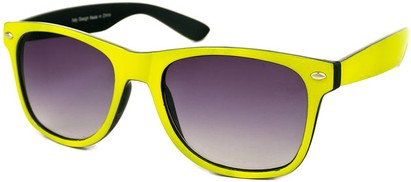 Angle of SW Bright Retro Style #809 in Yellow/Black Frame, Women's and Men's
