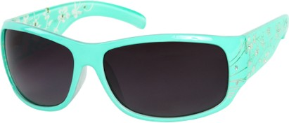 Angle of SW Floral Style #820 in Mint Green Frame, Women's and Men's