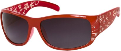 Angle of SW Floral Style #820 in Red Frame, Women's and Men's