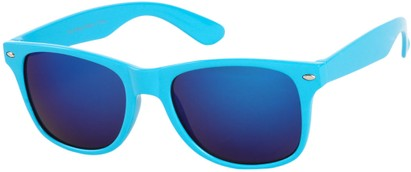 Angle of SW Mirrored Style #54060 in Blue Frame, Women's and Men's
