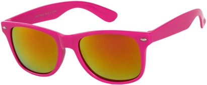Angle of SW Mirrored Style #54060 in Pink Frame, Women's and Men's