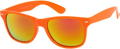 Angle of SW Mirrored Style #54060 in Orange Frame, Women's and Men's