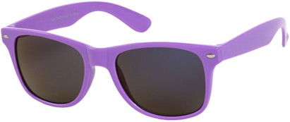 Angle of SW Mirrored Style #54060 in Purple Frame, Women's and Men's