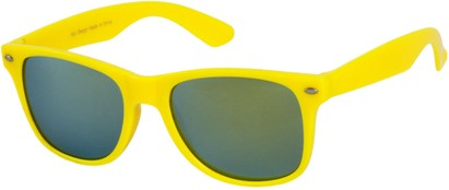 Angle of SW Mirrored Style #54060 in Yellow Frame, Women's and Men's