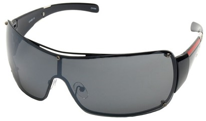 Angle of SW Shield Style #797 in Black Frame, Women's and Men's