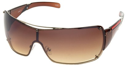 Angle of SW Shield Style #797 in Gold Frame, Women's and Men's