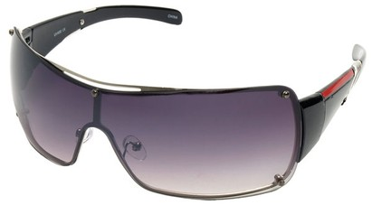 Angle of SW Shield Style #797 in Silver Frame, Women's and Men's
