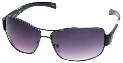Angle of SW Aviator Style #4729 in Grey and Black Frame, Women's and Men's