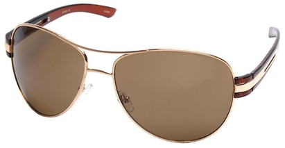 Angle of SW Aviator Style #31020 in Gold Frame, Women's and Men's