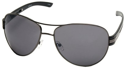 Angle of SW Aviator Style #31020 in Grey Frame, Women's and Men's