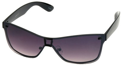 Angle of SW Shield Style #8003 in Black Frame with Rose Lenses, Women's and Men's