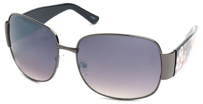 Angle of SW Floral Aviator Style #60846 in Grey and Black Frame, Women's and Men's