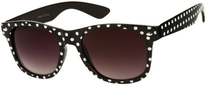 Angle of SW Retro Polka Dot Style #1834 in Black, Women's and Men's