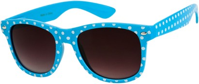 Angle of SW Retro Polka Dot Style #1834 in Blue, Women's and Men's