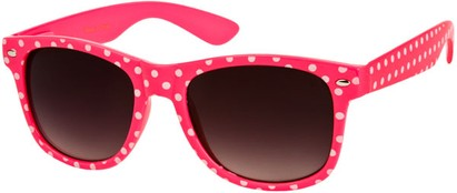 Angle of SW Retro Polka Dot Style #1834 in Pink, Women's and Men's