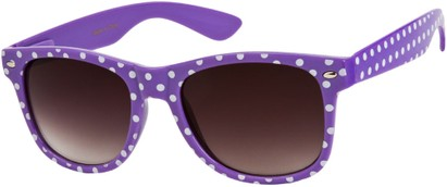 Angle of SW Retro Polka Dot Style #1834 in Purple, Women's and Men's