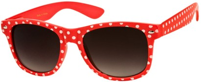 Angle of SW Retro Polka Dot Style #1834 in Red, Women's and Men's