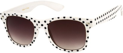Angle of SW Retro Polka Dot Style #1834 in White with Black Dots, Women's and Men's