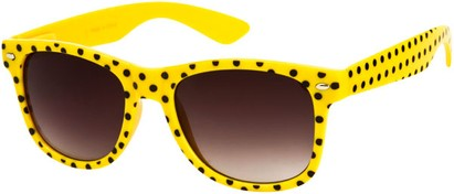 Angle of SW Retro Polka Dot Style #1834 in Yellow, Women's and Men's