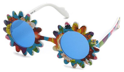 Angle of SW Funky Kid's Sunglasses #201 in Blue Frame, Women's and Men's