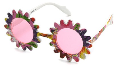 Angle of SW Funky Kid's Sunglasses #201 in Pink Frame, Women's and Men's