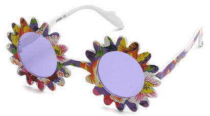 Angle of SW Funky Kid's Sunglasses #201 in Purple Frame, Women's and Men's