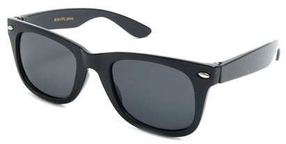 Angle of SW Kid's Retro Polarized Style #33410 in Black Frame, Women's and Men's
