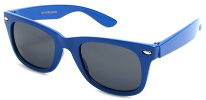 Angle of SW Kid's Retro Polarized Style #33410 in Blue Frame, Women's and Men's
