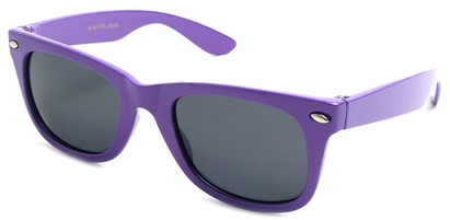 Angle of SW Kid's Retro Polarized Style #33410 in Purple Frame, Women's and Men's