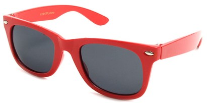 Angle of SW Kid's Retro Polarized Style #33410 in Red Frame, Women's and Men's