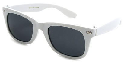 Angle of SW Kid's Retro Polarized Style #33410 in White Frame, Women's and Men's