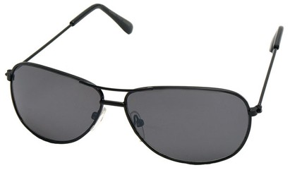 Angle of SW Kid's Aviator Style #200 in Black Frame, Women's and Men's