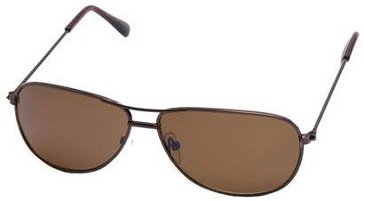 Angle of SW Kid's Aviator Style #200 in Bronze Frame, Women's and Men's