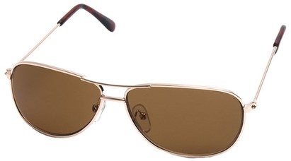 Angle of SW Kid's Aviator Style #200 in Gold Frame, Women's and Men's