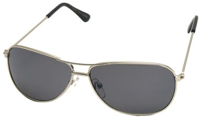 Angle of SW Kid's Aviator Style #200 in Silver Frame, Women's and Men's