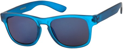 Angle of SW Kid's Retro Style #449 in Matte Blue Frame, Women's and Men's