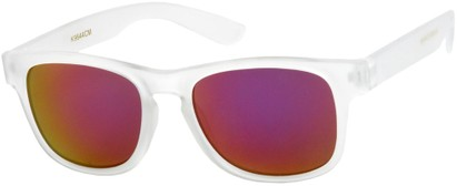 Angle of SW Kid's Retro Style #449 in Matte Clear Frame, Women's and Men's