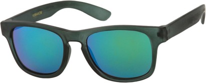 Angle of SW Kid's Retro Style #449 in Matte Green Frame, Women's and Men's